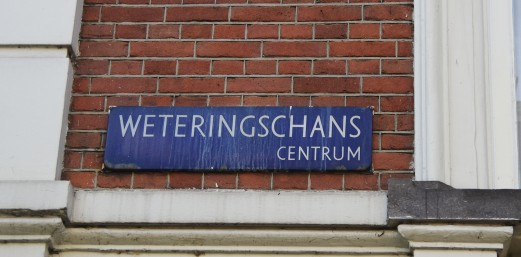 Weteringschans sign